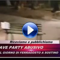 Video del rave party a Sostino di Foligno, centinaia di camper e auto 🔴