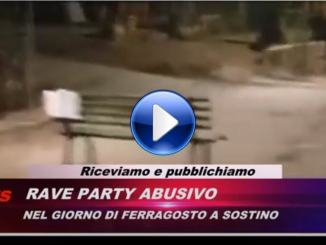 Video del rave party a Sostino di Foligno, centinaia di camper e auto