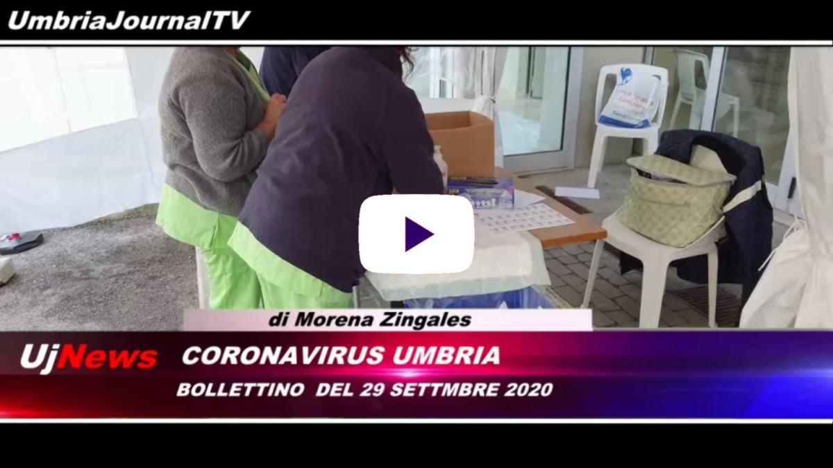 Telegiornale dell'Umbria edizione della sera Tg, 29 settembre 2020 martedì