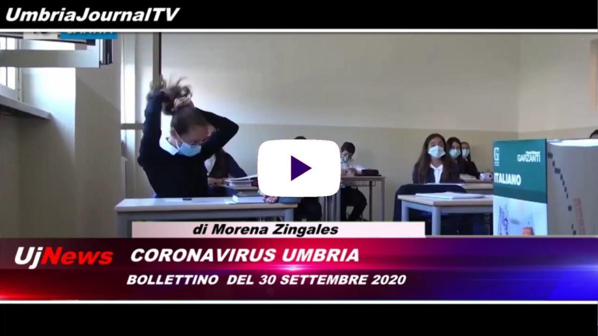Telegiornale dell'Umbria edizione della sera Tg, 30 settembre 2020 mercoledì