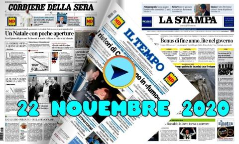 Rassegna stampa del 22 novembre 2020, prime in odf