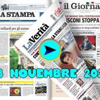 La video rassegna stampa del 23 novembre 2020, prime pagine in pdf