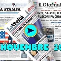 La video rassegna stampa del 24 novembre 2020, prime pagine in pdf