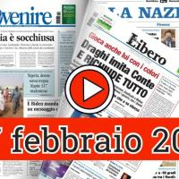 Video rassegna stampa del 27 febbraio 2021 giornali in pdf prime pagine