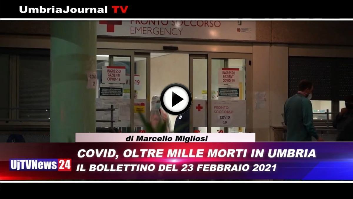 Telegiornale dell'Umbria edizione della sera Tg, 23 febbraio 2021 martedì