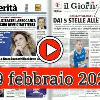 19 febbraio 2021, la video rassegna stampa dei giornali in pdf