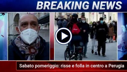 Risse in centro a Perugia, un sabato affollato, intervista assessore Luca Merli