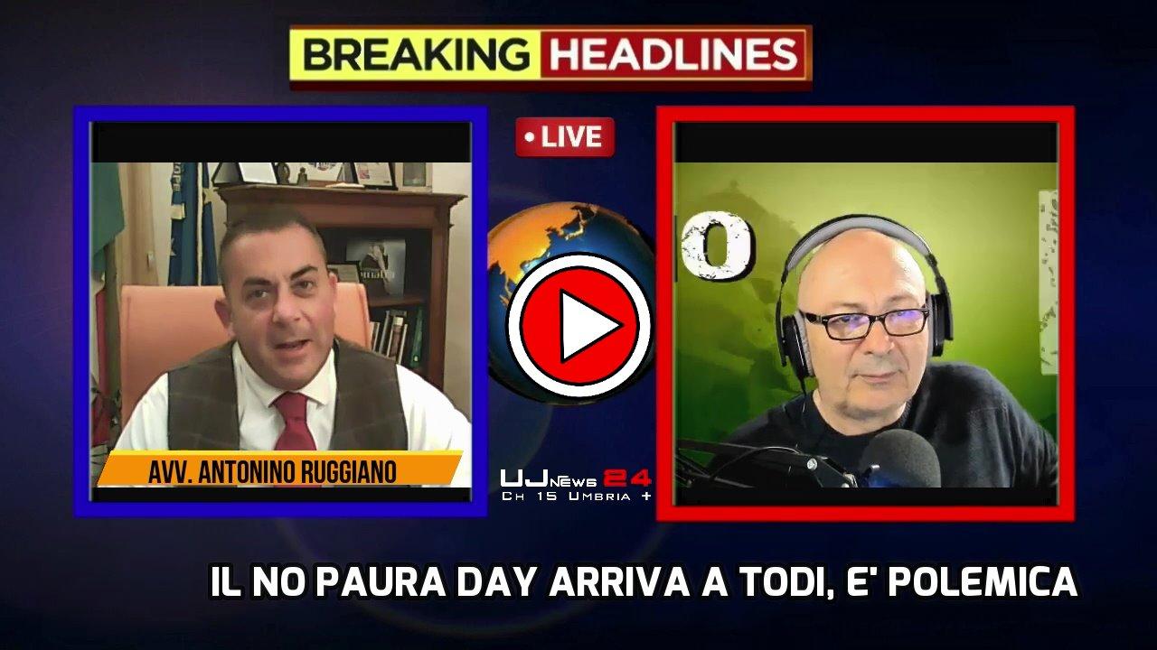 No Paura Day anche a Todi, è polemica, parla il sindaco Antonino Ruggiano