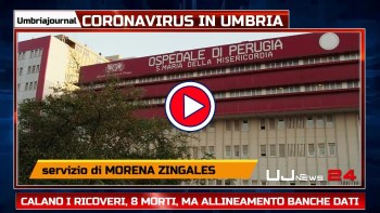 Sono stabili i ricoverati Covid in Umbria, al 10 anche 48 guariti