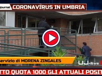 Attuali positivi al Covid in Umbria scendono sotto quota mille
