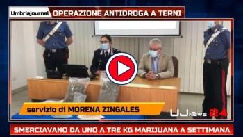 Operazione antidroga a Terni, tre arresti, uno in carcere due ai domiciliari