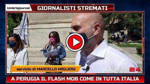 Flash mob a Perugia per il futuro dell'informazione, intervista a Marco Baruffi