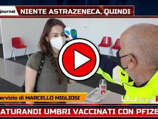 Vaccini, Umbria maturandi solo dosi Pfizer, video centro vaccini