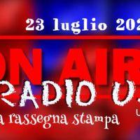RadioUj24 il giornale radio dell'Umbria del 23 luglio 2021