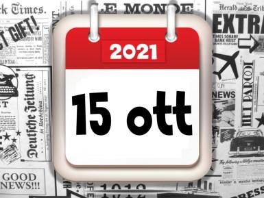 Rassegna stampa sfogliabile dei giornali di oggi 15 ottobre 2021