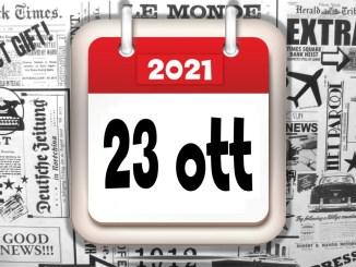 Rassegna stampa del 23 ottobre 2021 le prime di copertina in pdf