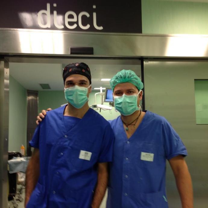 Oculistica: Marco Lupidi con un collega