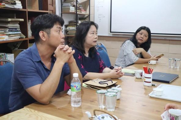 左起谢静国助理教授、沈惠如副教授、张惠思博士。