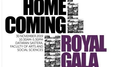Event Poster Homecoming Royal Dinner FSSS - 马大文学暨社科院60周年庆典 及 系友回系日