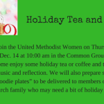 Holiday Tea and Cookies