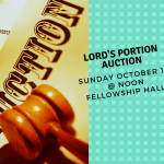 Lord's Portion Auction List of Items