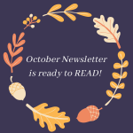 October 2020 Newsletter is ready to read!