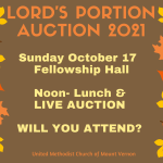 Lord's Portion Auction- This Sunday – October 17