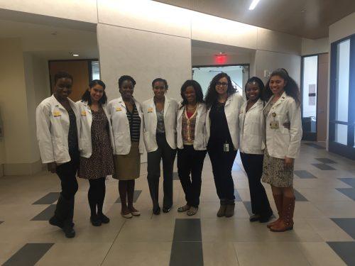 M2 BMA ladies celebrating the last day of classes