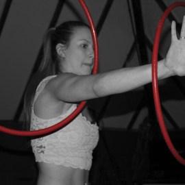 Emily Henderson hoop dancing.