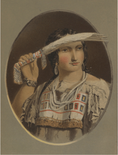 "Kane, Paul, Mah-Min ""The Feather,"" 1849-56, oil on canvas, 76.3 x 63.9 cm. Toronto, Royal Ontario Museum."