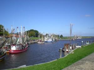 Bilderbuchidylle im Hafen von Greetsiel