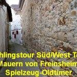 Frühlingstour Süd/West Teil 3: Die Mauern von Freinsheim und Spielzeug-Oldtimer