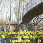 Frühlingstour Süd/West Teil 5: Aus dem Tal ins Licht ans Felsenmeer, zu Leckerhorst!