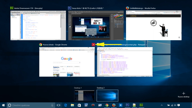 Desktop virtuali win 10