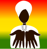 man offering hands illustration