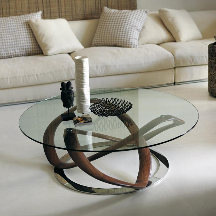 porada infinity glass coffee table