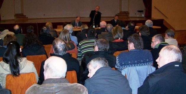 Reunion publique sur l'Education,  5 février 2009 à Drulingen
