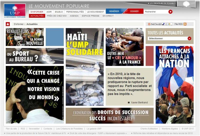 Le nouveau site web de l'UMP