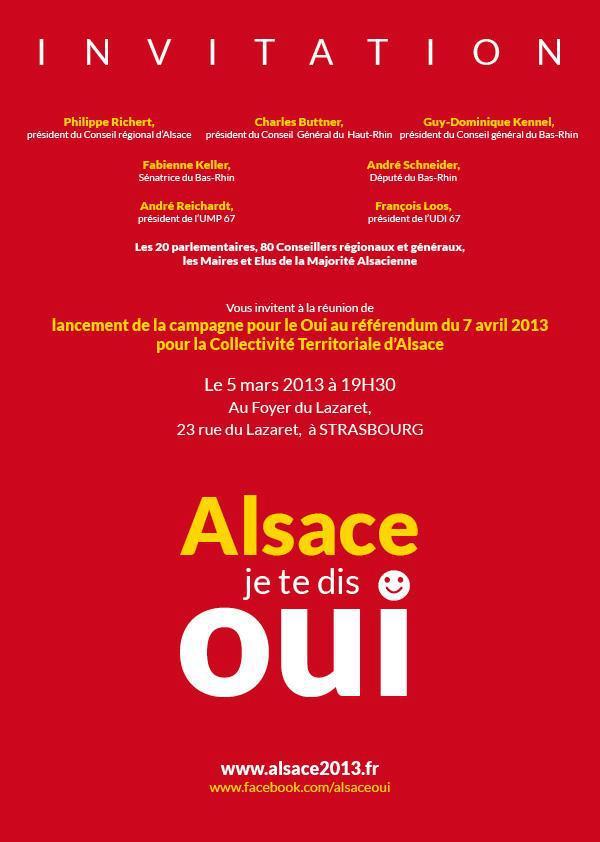 Réunion publique lancement campagne OUI - STRASBOURG 05-03-13