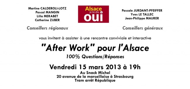CARTON Afterwork ALSACE 15 mars