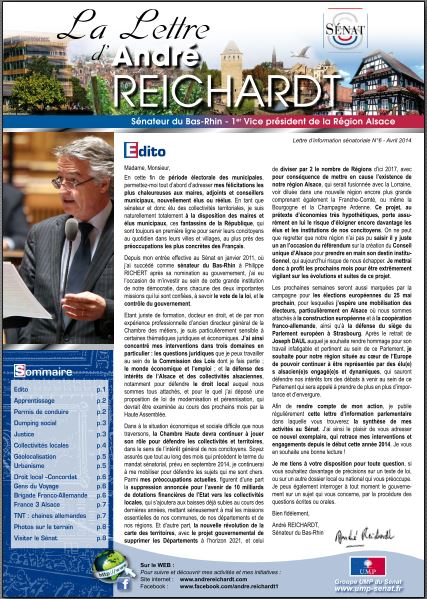 Newsletter André REICHARDT N°6