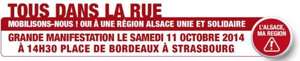 Tous dans la rue pour l'Alsace