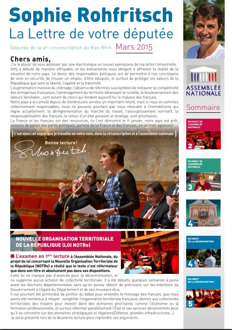Lettre S.ROHFRITSCH mars 2015
