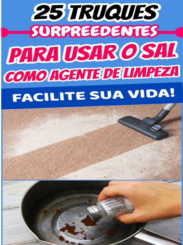 Dicas para usar o sal como poderoso ajudador na limpeza doméstica