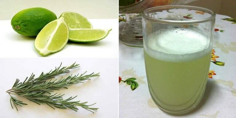 Suco de limão com alecrim para o tratamento de varizes e pressão alta