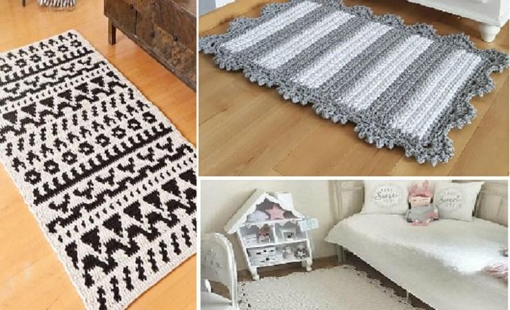 Ideias de decoração com tapetes de crochê