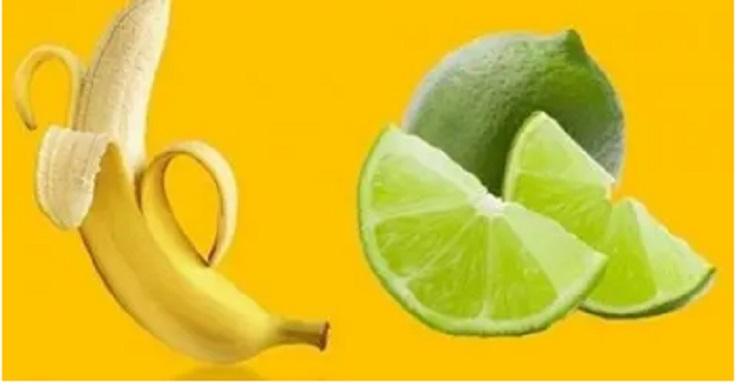 Bebida de limão e banana para combater o cansaço e acelerar o emagrecimento