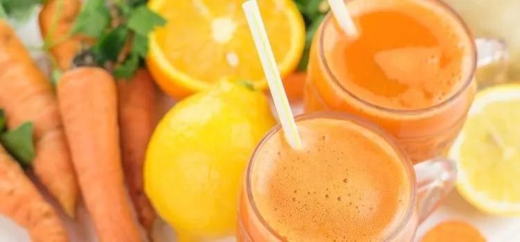 Suco de mel, cenoura e limão para tratar tosse quando estiver gripado