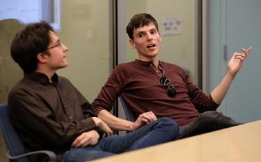From left: Chris Zimmerman (junior) and Bryan Holster (senior).