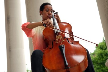 Cellist Bethel Mahoney, a psychology major at UMW, is a standout in the University's Philharmonic Orchestra.